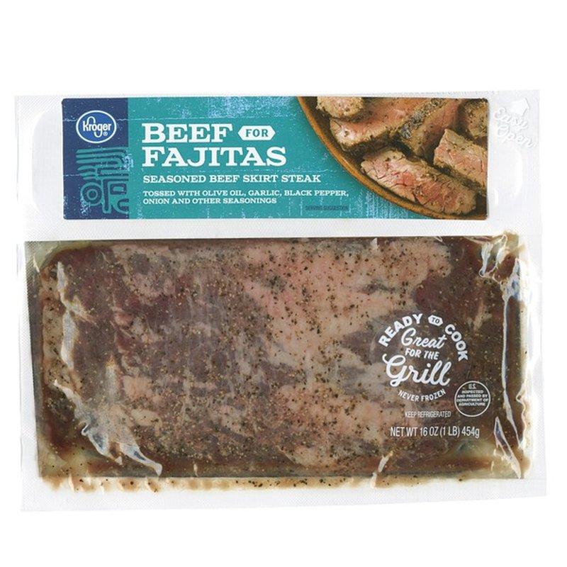 Kroger Seasoned Beef Skirt Steak for Fajitas