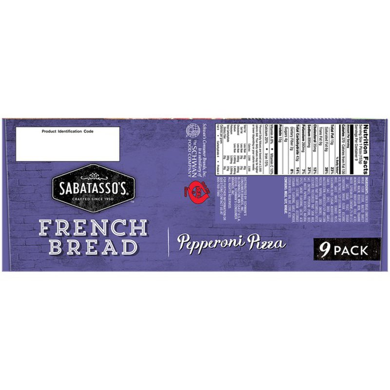 Sabatasso's French Bread Pepperoni Pizza, 48.6 oz