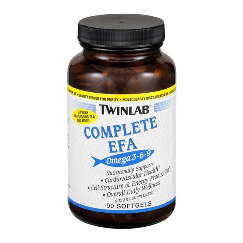 Twinlab Complete Efa Omega 3 6 9 Dietary Supplement Softgels 90