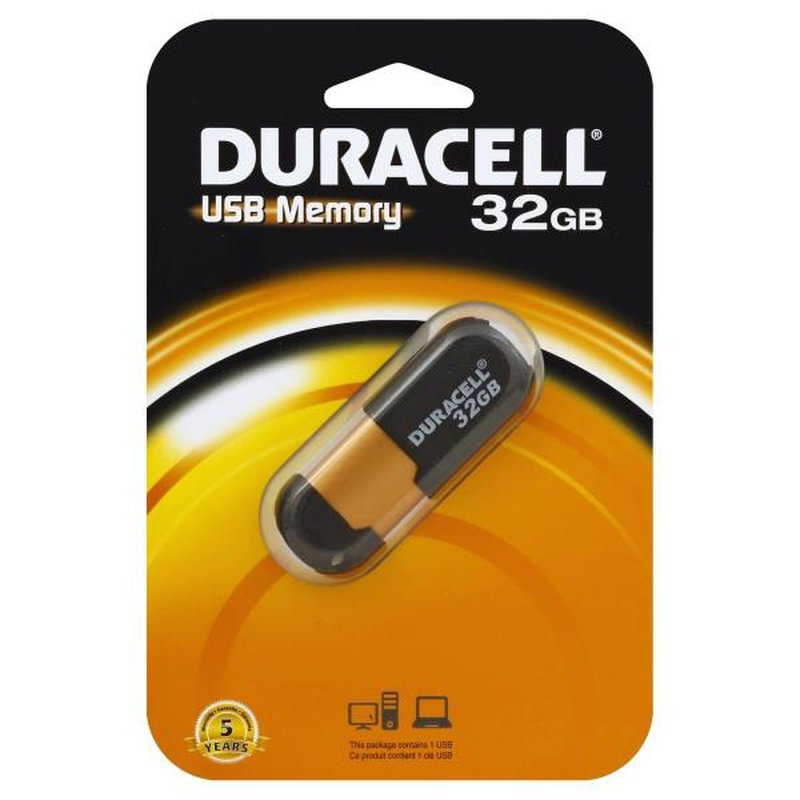 Duracell 32 Gb Usb 2.0 Flash Drive Capless Du Zp 32 G Ca N3 R (Black)