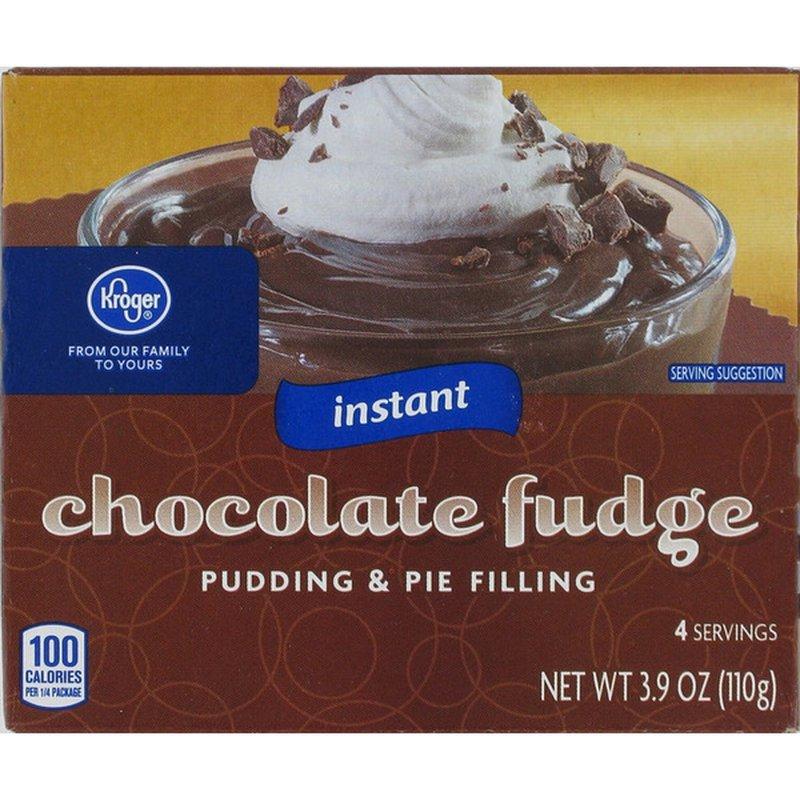 Kroger Pudding & Pie Filling, Instant, Chocolate Fudge