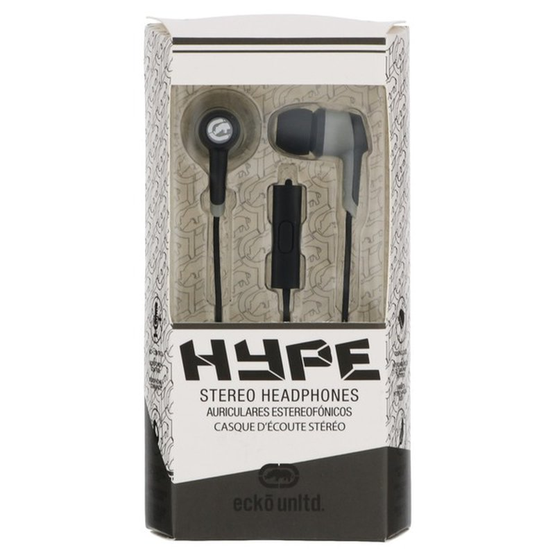 Ecko Black Hype Stereo Headphones