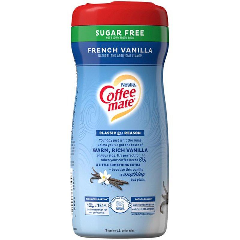 Coffee-mate French Vanilla Sugar Free Powder Coffee Creamer (10.2 oz) - Instacart