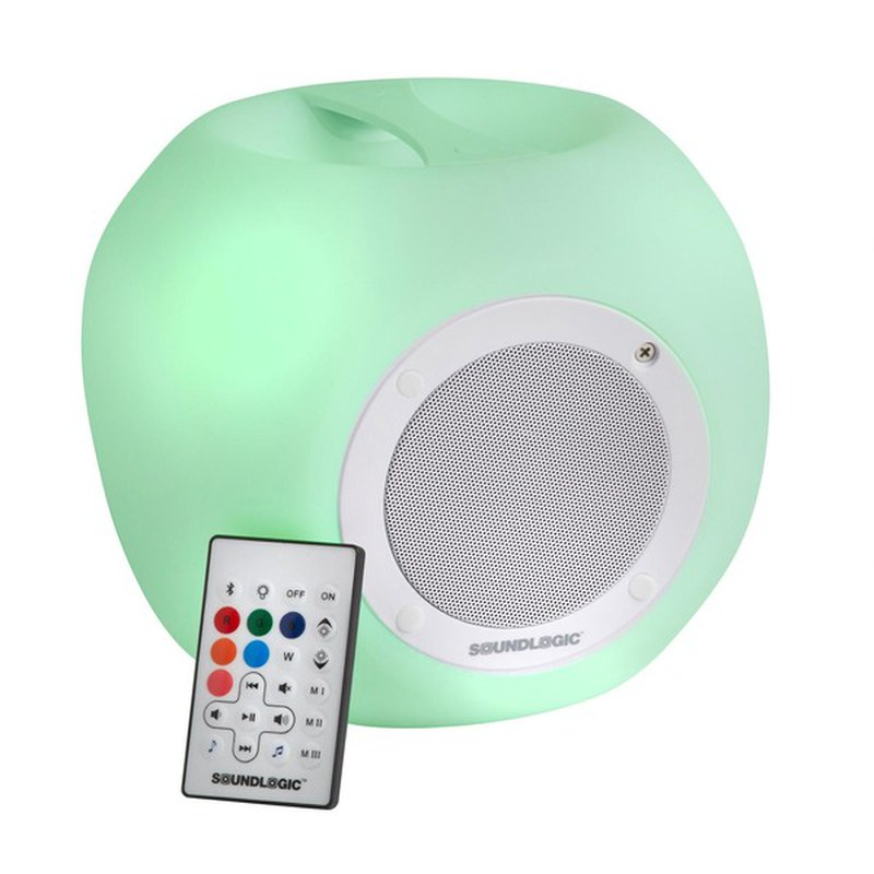 Sound Logic XT Bluetooth Color Changing Wireless Cube Speaker With Remote Control