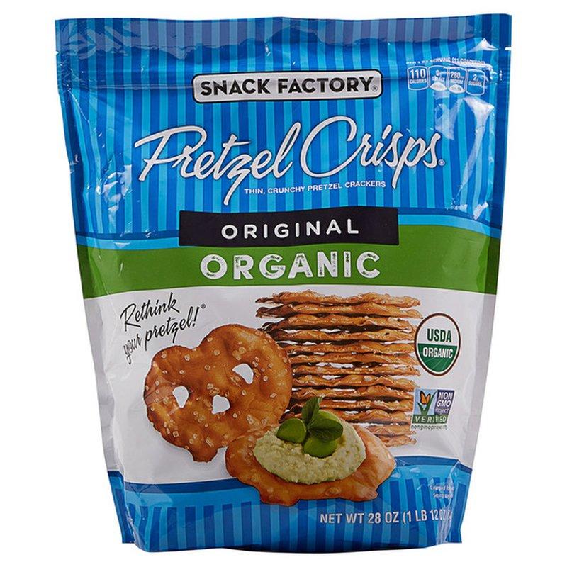 Snack Factory Pretzel Crisps Organic Thin, Crunchy Pretzel Crackers