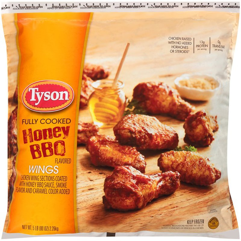 Tyson Any Tizers Honey Bbq Bone In Chicken Wings 5 Lb Frozen 80 Oz Instacart