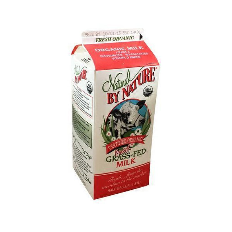 Natural By Nature Fresh Grass-Fed Whole Milk (64 fl oz ...
