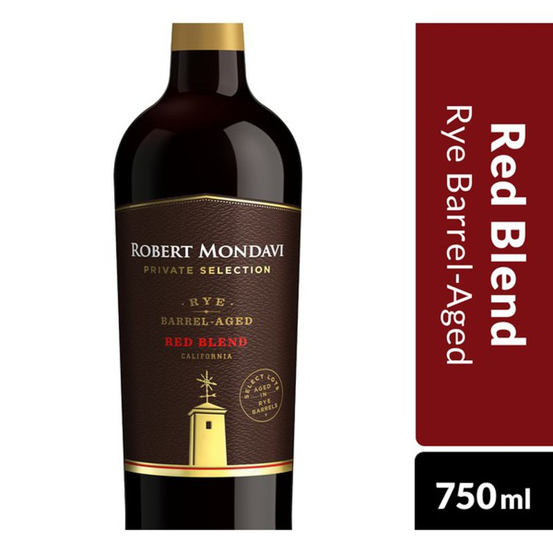 Robert Mondavi Private Selection Rye Barrel Aged Red Blend Red Wine