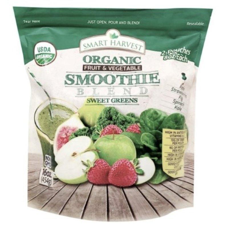Smart Harvest Organic Frozen Sweet Green Blend Fruit Smoothie