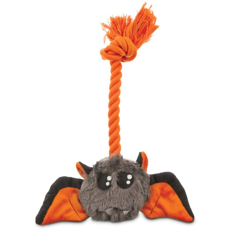 """Petco Small 6"""" Halloween Bootique Plush Bat Rope Dog Toy"""