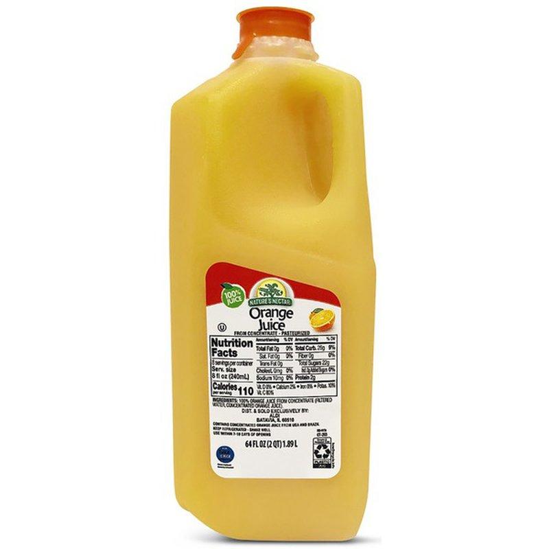 Nature's Nectar 100% Juice, Orange