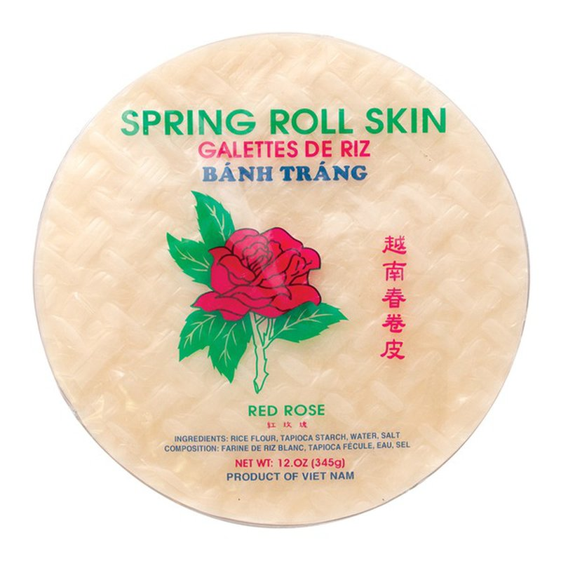 Red Rose Spring Roll Skin Egg Roll Wrap
