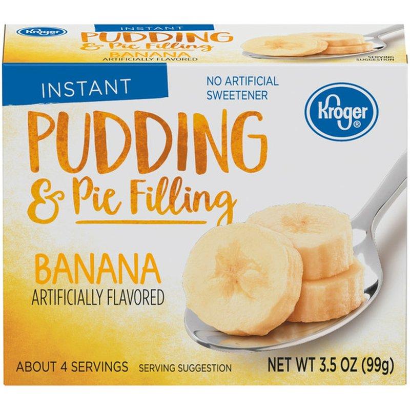 Kroger Instant Banana Pudding & Pie Filling