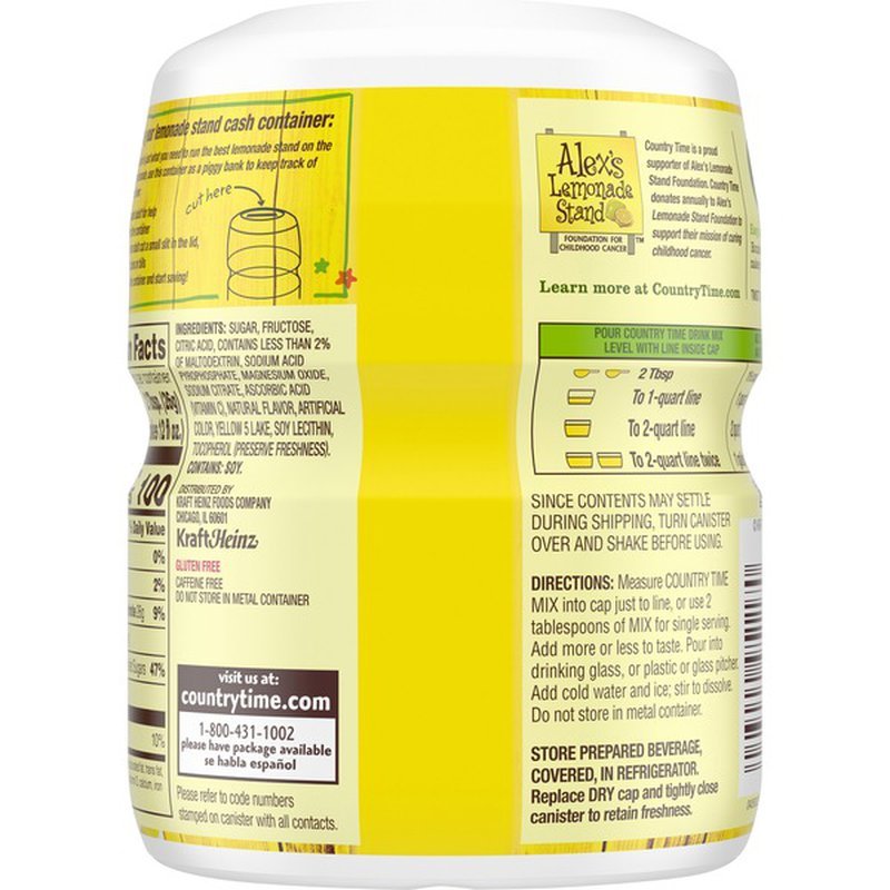 Country Time Lemonade Flavored Powder Drink Mix (19 oz ...
