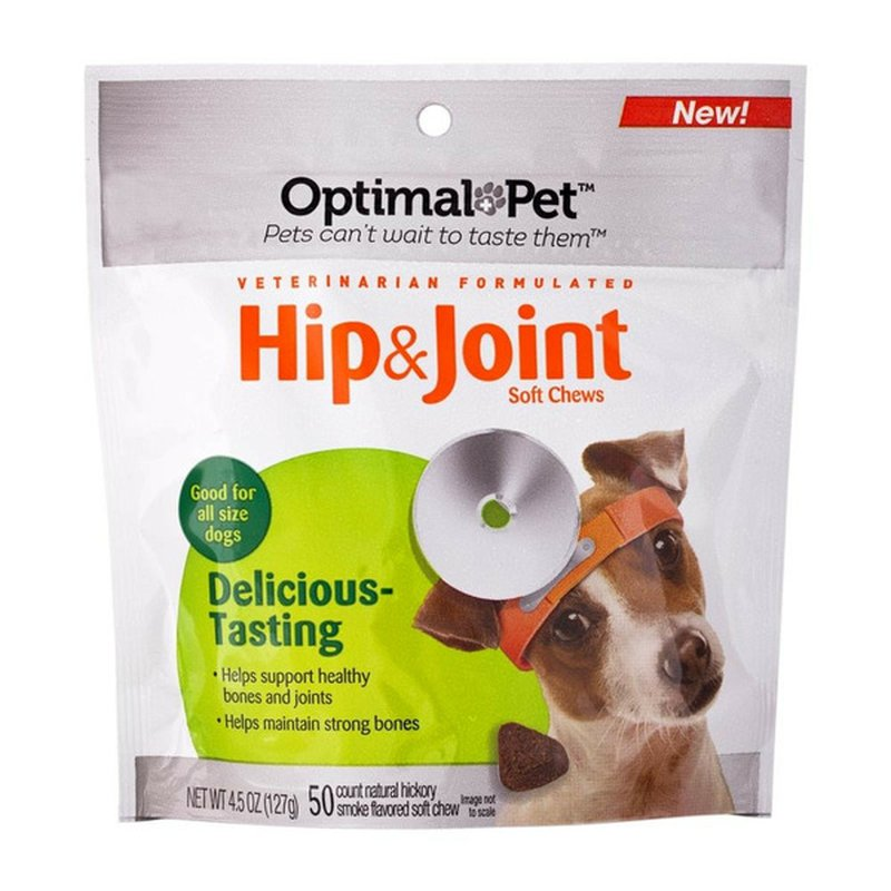 Optimal Pet Hip & Joint Hickory Smoke Soft Chews for Dogs