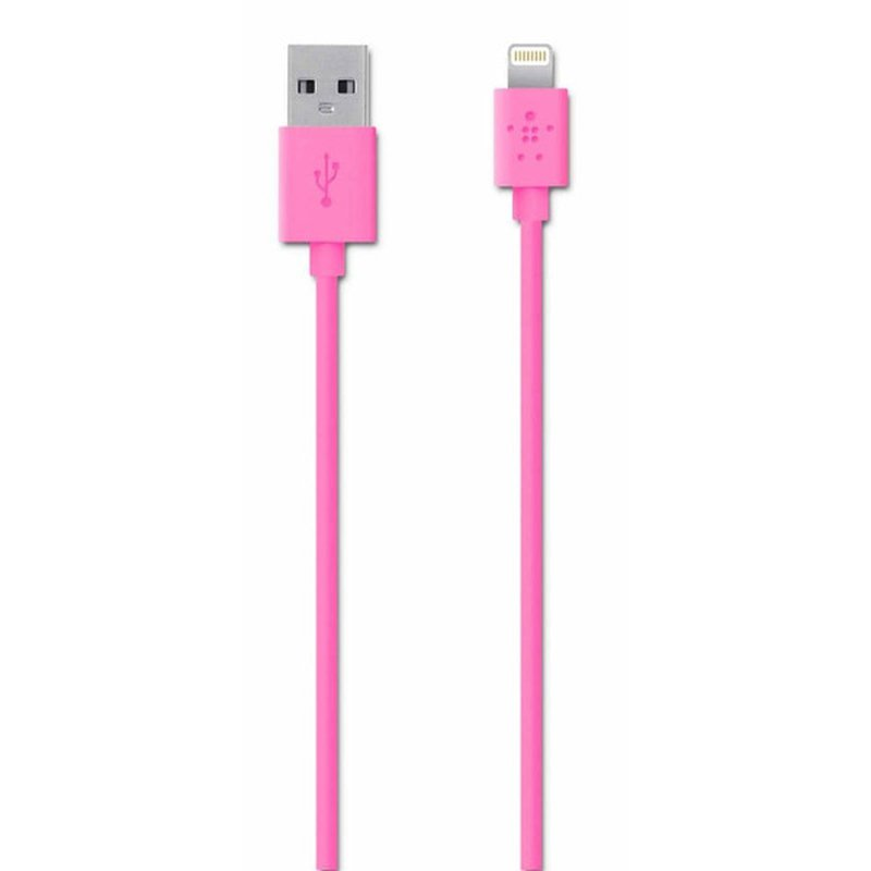 """Belkin 4"""" Lightning Charge Sync Cable - Pink (F8J023bt04-PNK)"""