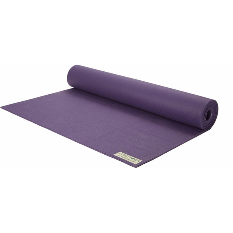 "Jade Yoga Harmony Professional Yoga Mat - Purple - 3/16"" x 24"" x 68"""