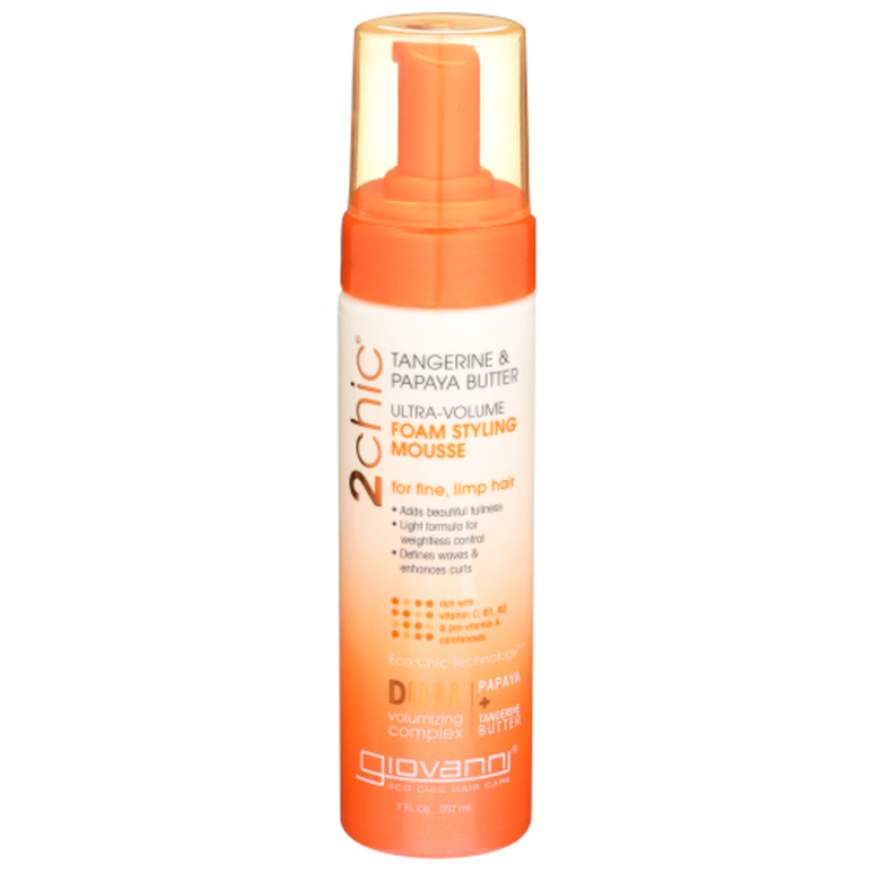Giovanni 2chic Ultra Volume Foam Styling Mousse Tangerine Papaya Butter 7 Fl Oz Instacart