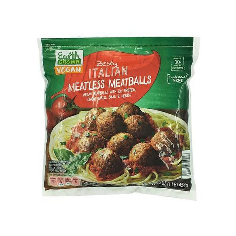 Earth Grown Zesty Italian Meatless Meatballs