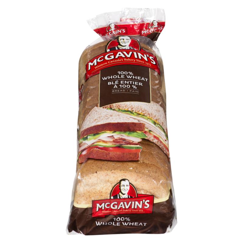 Mcgavins 100% Whole Wheat Bread