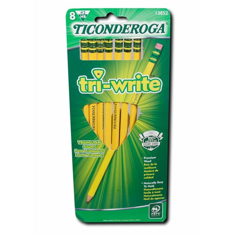 Ticonderoga Noir Tri Write Number 2 Pencils