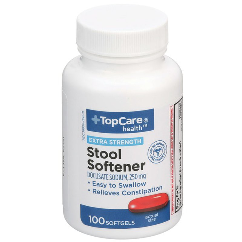 Top Care Extra Strength Stool Softener Docusate Sodium 250 ...