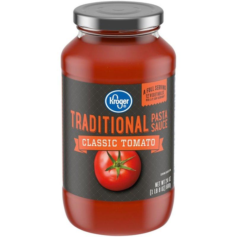 Kroger Classic Tomato Traditional Pasta Sauce