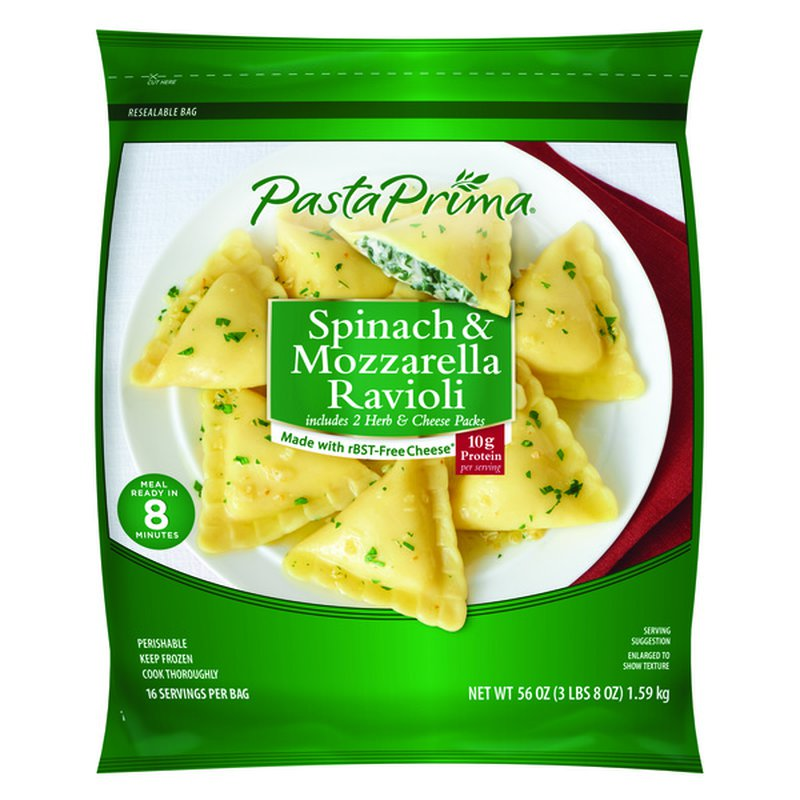 Pasta Prima Spinach & Mozzarella Ravioli, 56 oz