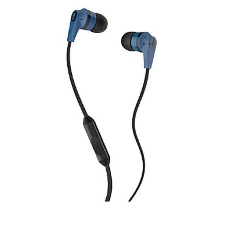 Skullcandy Blue & Black Ink'd Earbud Headphones With Mic