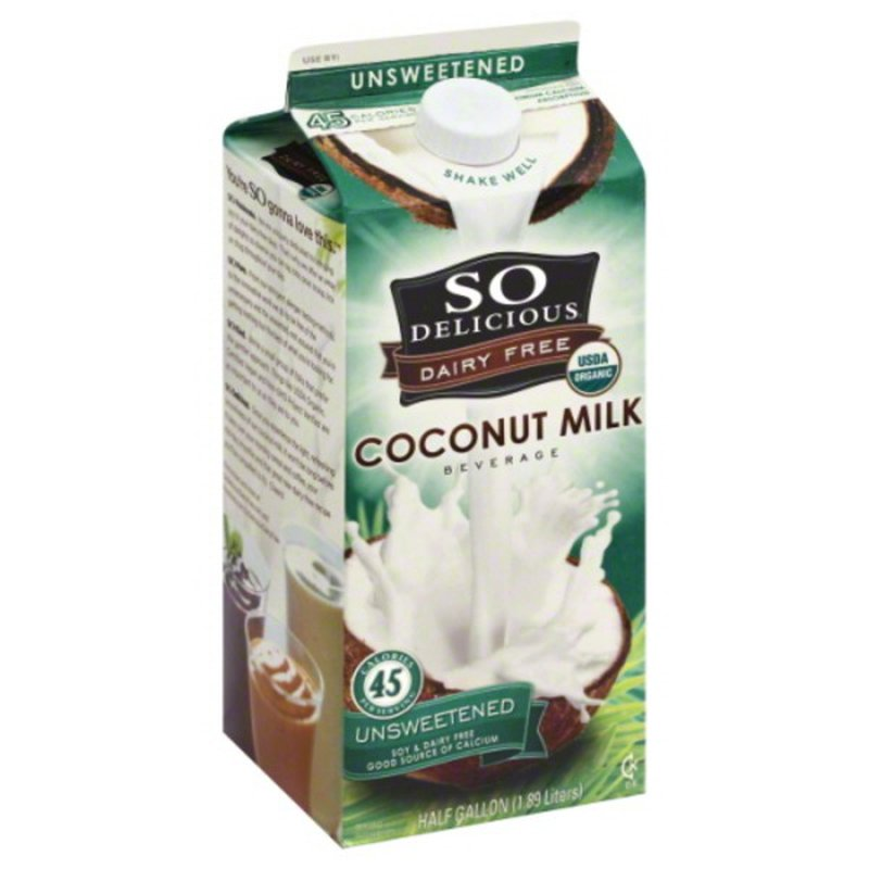 So Delicious Dairy Free Dairy Free Organic Coconut Milk Beverage Unsweetened