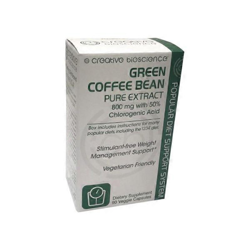 Creative Bioscience Green Coffee Bean Pure Extract 800 Mg 60 Ct