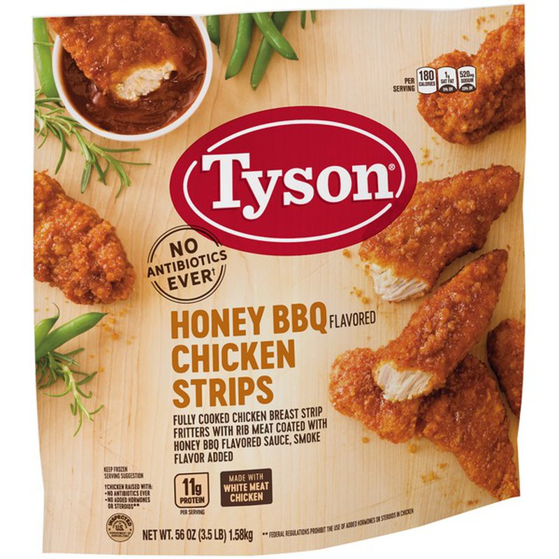 Tyson Fully Cooked Honey Bbq Chicken Strips 3 5 Lb Frozen 3 5 Lb Instacart
