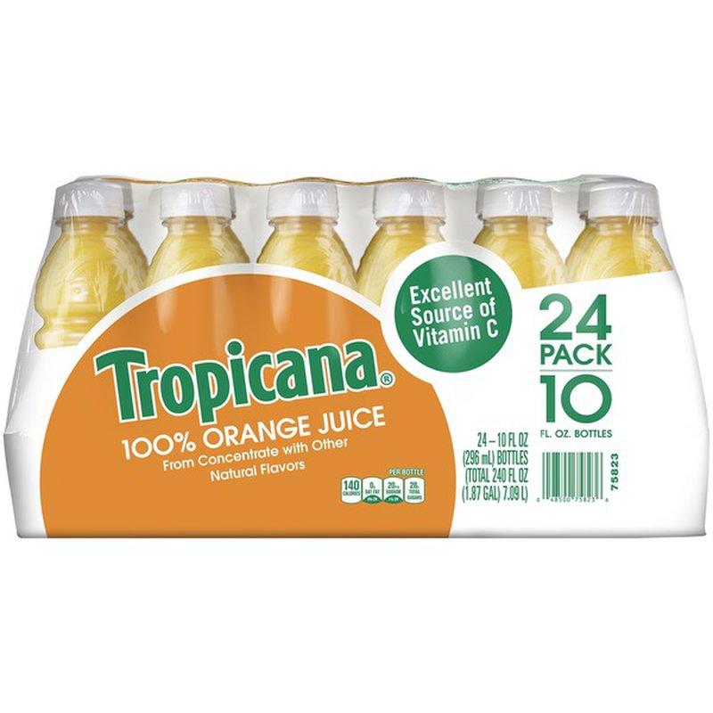 Tropicana Orange 100% Juice (10 fl oz) from Costco - Instacart
