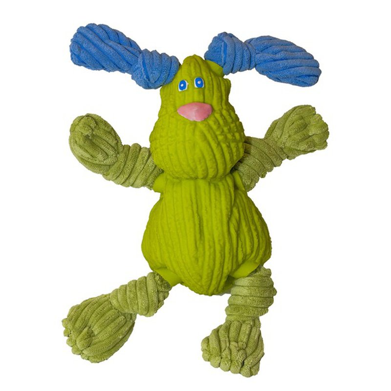 Huggle Hounds Plush Corduroy Durable Rubber Squeaky Ruff-Tex Bugsy Dog Toy