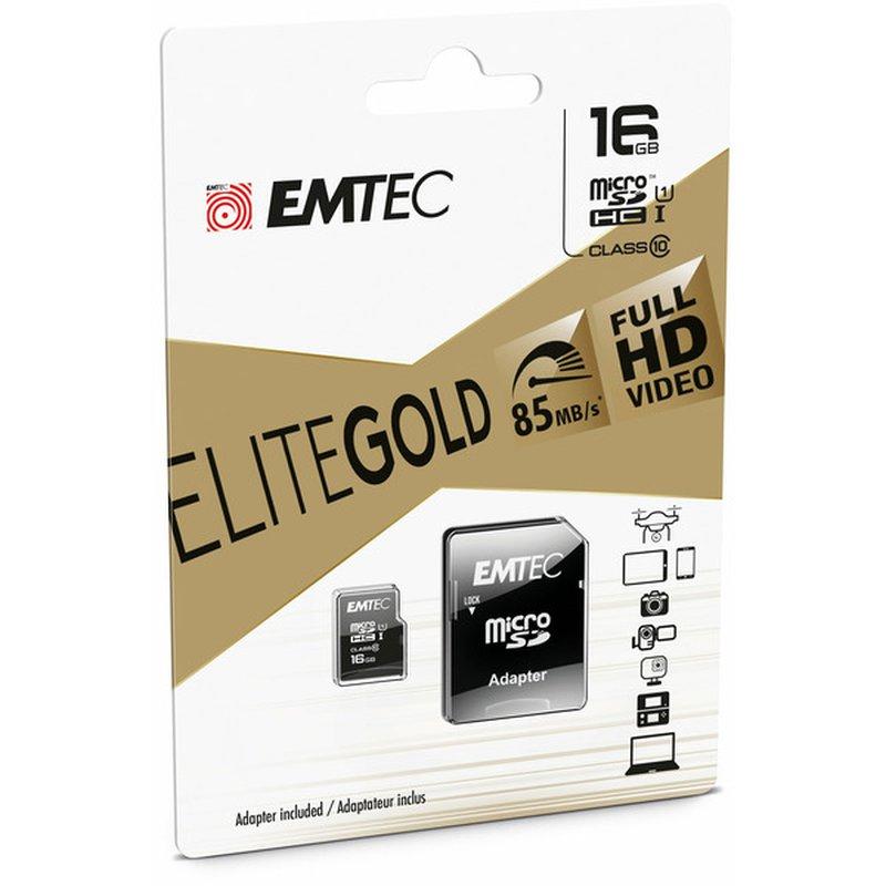 Emtec Micro Sdhc 16 Gb Class10 Gold Memory Card