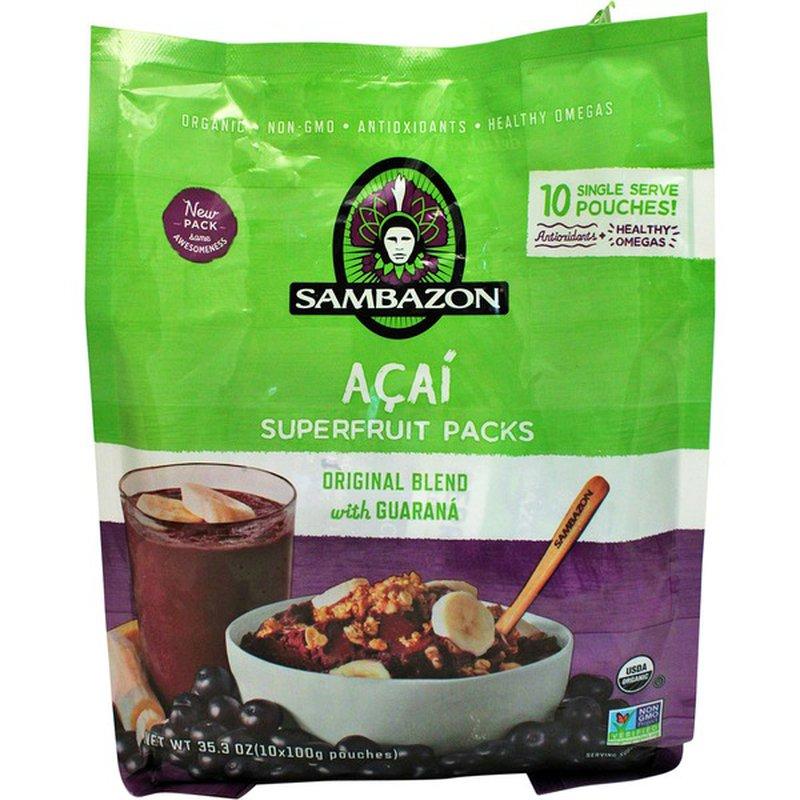 Sambazon Acai Supper Fruit Packs
