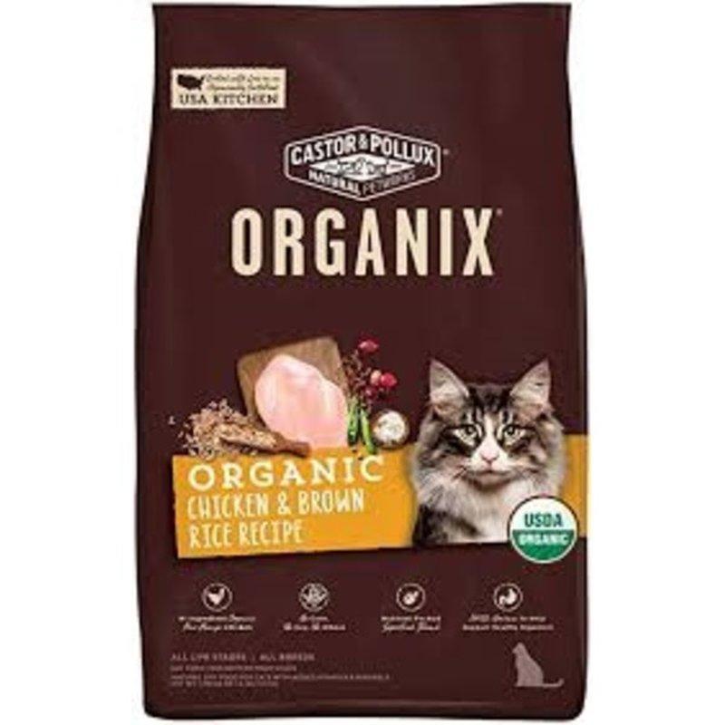 Castor & Pollux Organix Chicken, Brown Rice & Flaxseed Adult Cat Food