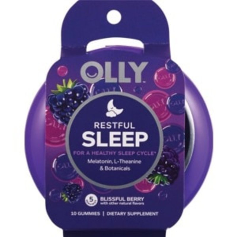 Olly Restful Sleep Melatonin L Theanine Botanicals Dietary