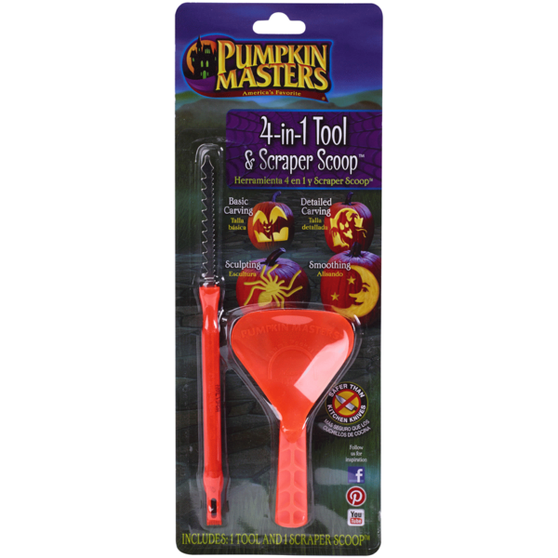 Pumpkin Masters 4 in 1 Carving Tool With Scoop