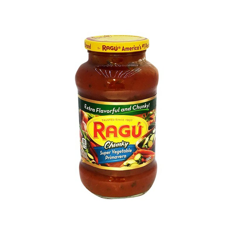 Ragu Chunky Super Vegetable Primavera Pasta Sauce (23.9 oz ...