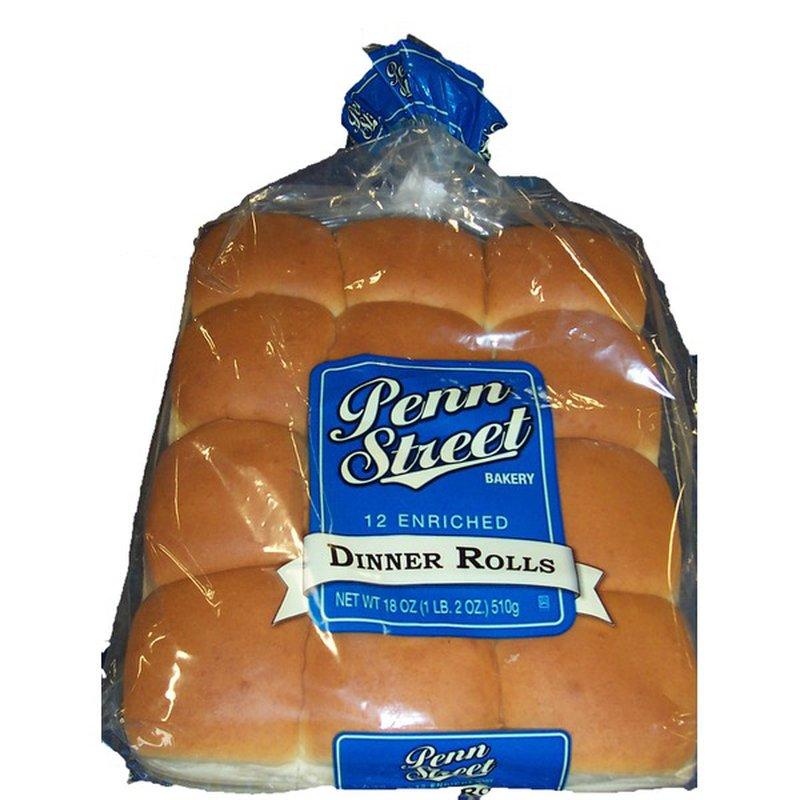 Penn Street Bakery 12 Enriched Dinner Rolls