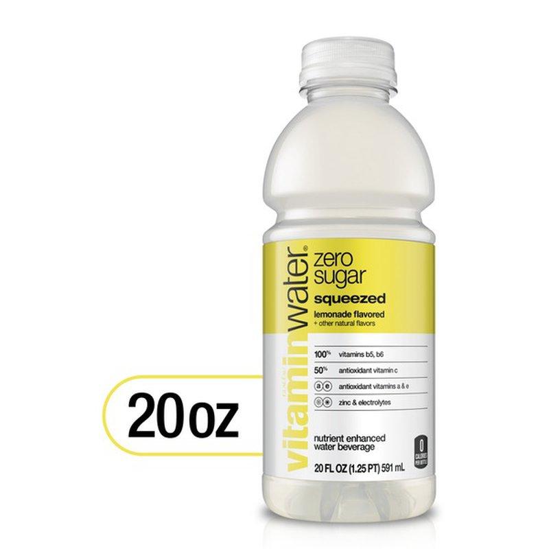Glaceau Vitaminwater Zero Squeezed Lemonade (20 fl oz ...