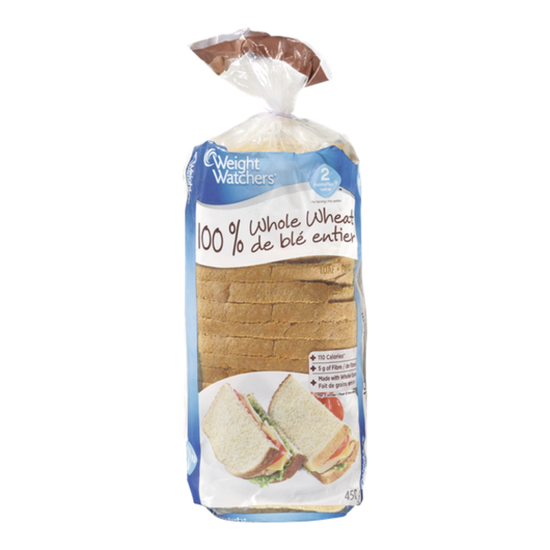 Weight Watchers 100% Whole Wheat Bread