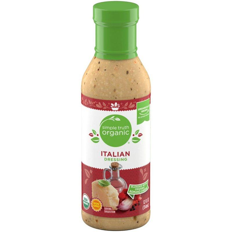Simple Truth Organic Italian An Aromatic Blend Of White Vinegar, Romano Cheese, Garlic, Lemon & Red Peppers Dressing