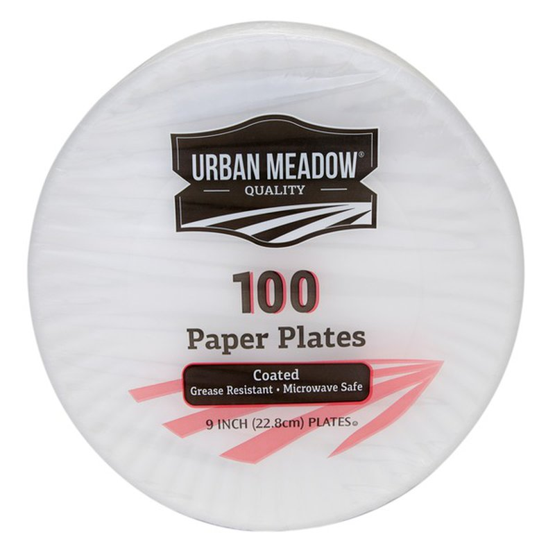 "Urban Meadow 9"" Coated Plates"