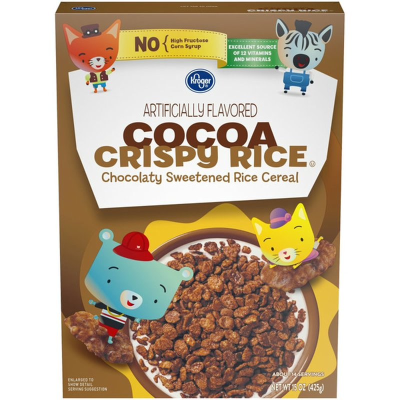 Kroger Chocolaty Sweetened Rice Cereal
