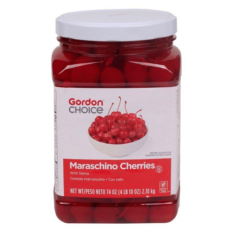 Gordon Choice Red Whole Maraschino Cherries