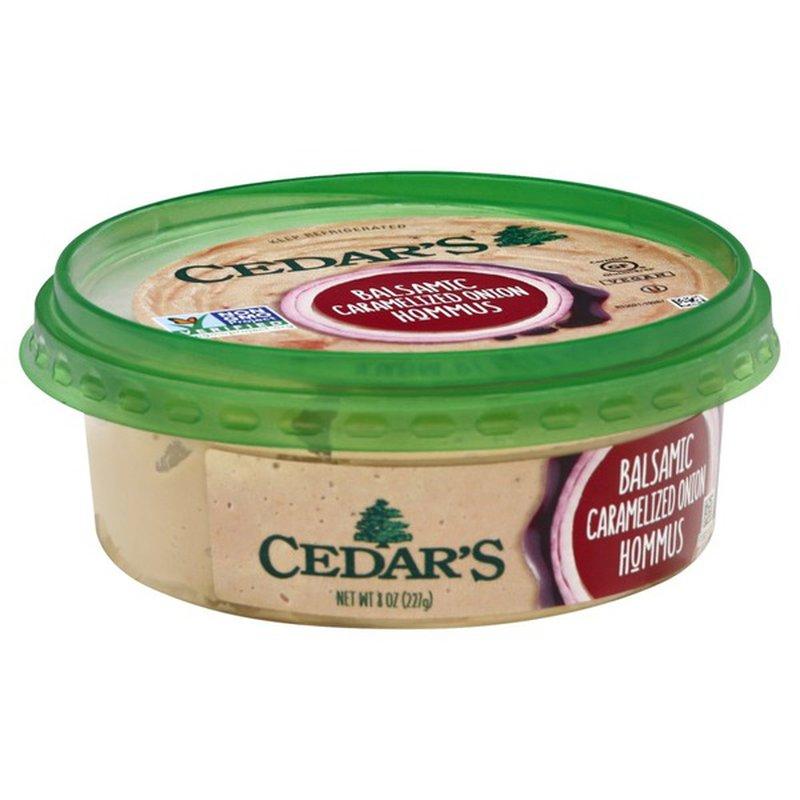 Cedar Hommus, Balsamic Caramelized Onion