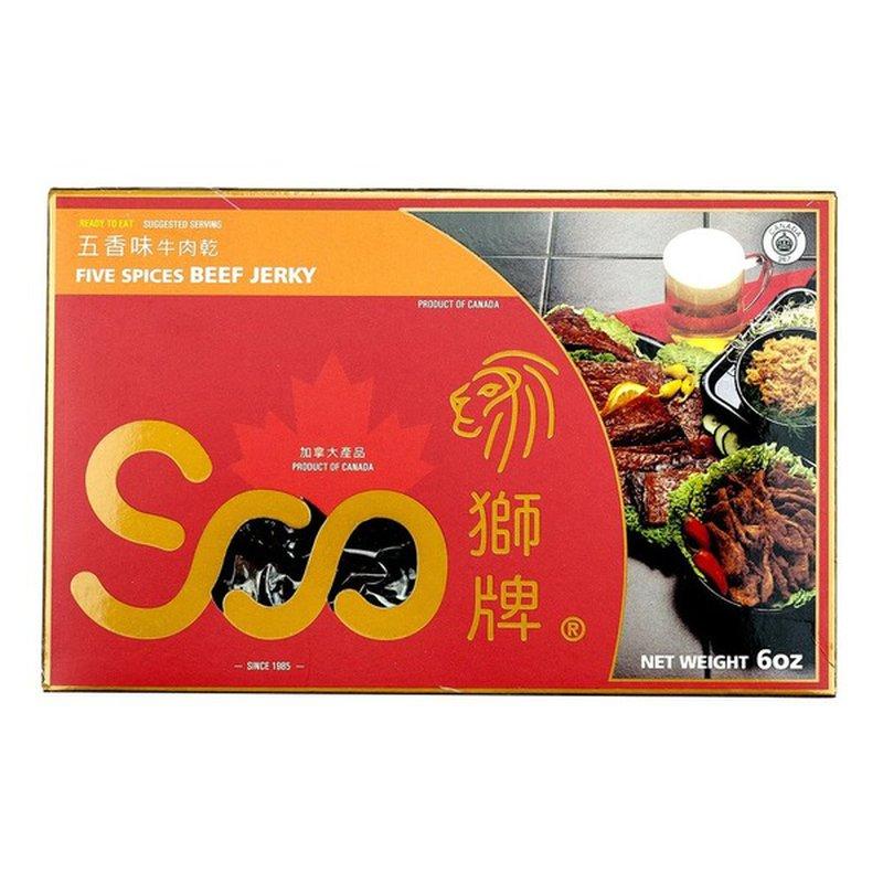 Soo Hot Five Spc Beef Jerky Box
