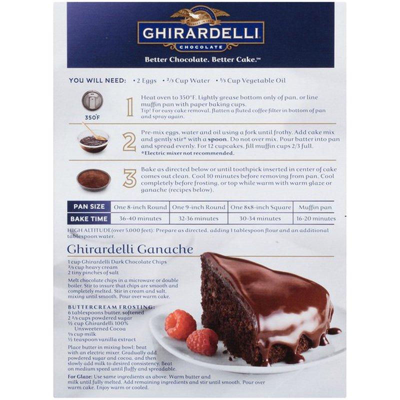 Ghirardelli Chocolate Dark Chocolate Premium Cake Mix 361 G Instacart